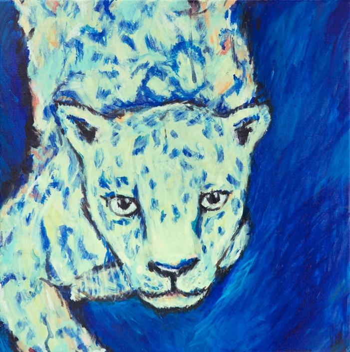 Herrad Gutekunst-Leopard bei Nacht