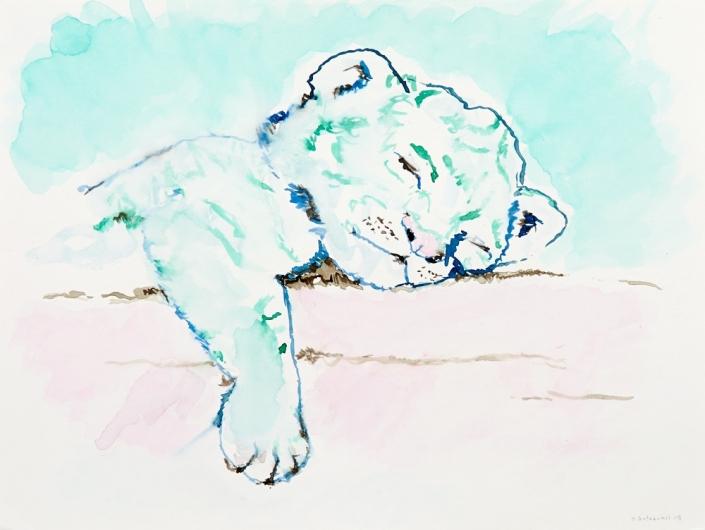 Herrad Gutekunst-Tigerbaby schlafend