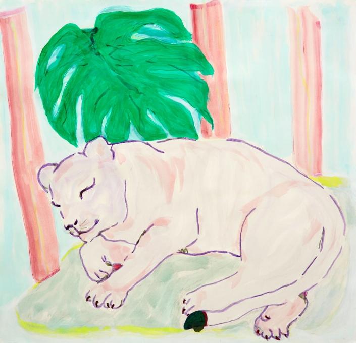 Herrad Gutekunst-Tiger schlafend