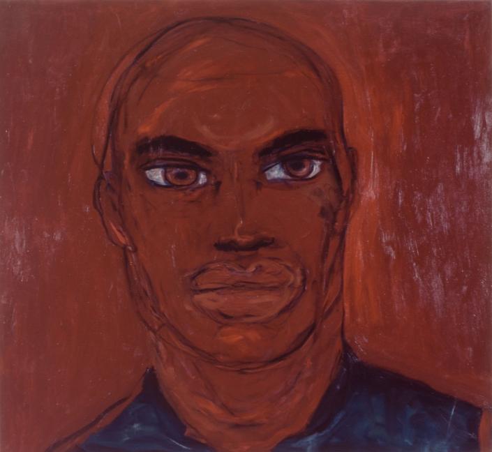 Herrad Gutekunst-Porträt rot in rot